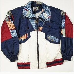 VTG 80s 90s Retro Geometric Windbreaker Jacket